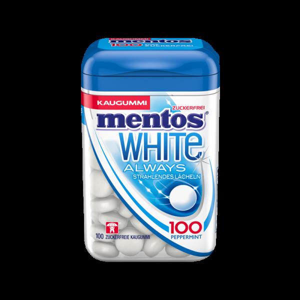 Mentos Kaugummi White Peppermint 100er Dose