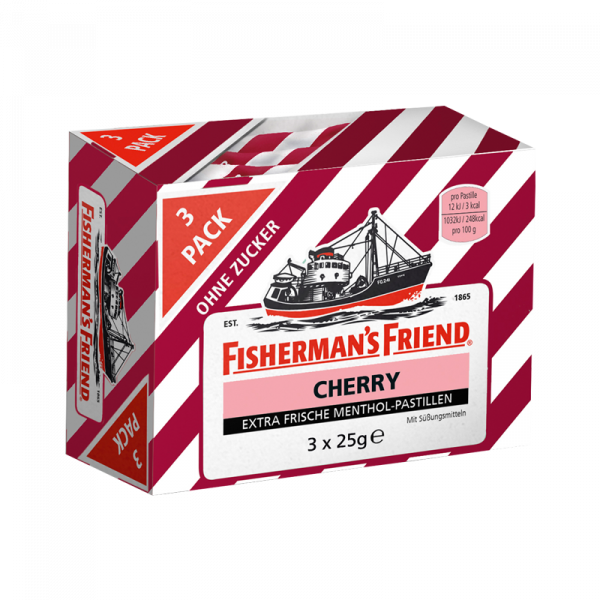 Fisherman's Friend Cherry ohne Zucker 3er Pack