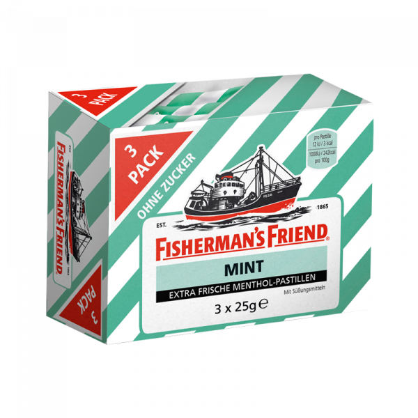Fisherman's Friend Mint ohne Zucker 3er Pack