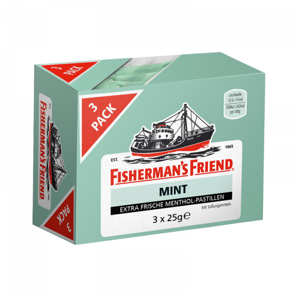 Fisherman's Friend Mint mit Zucker 3er Pack
