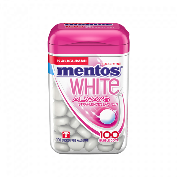 Mentos Kaugummi White Bubble Cool 100er Dose