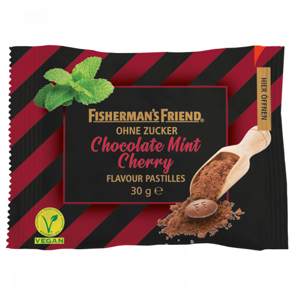 Fisherman's Friend Chocolate Mint Cherry ohne Zucker