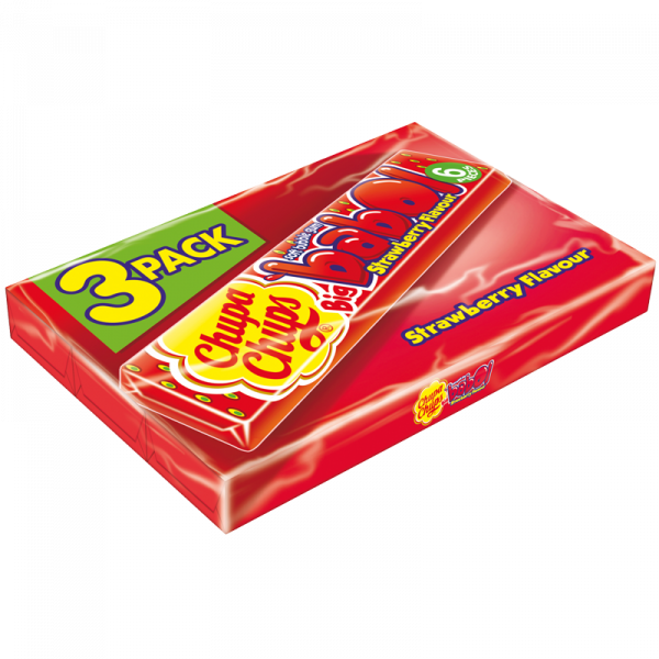 Chupa Chups Big Babol Erdbeere Dreierpack