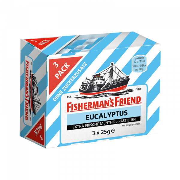 Fisherman's Friend Eucalyptus ohne Zucker 3er Pack